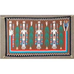 Navajo Multi-Color Yebechii Design Rug - Tina Begay