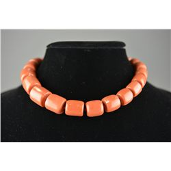 Chinese 14K Gold Clasp with Coral Necklace