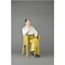 Rare Chinese Seated Mao Porcelain Statue c. 1970