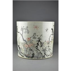 19th/20th C. Chinese Porcelain Bi Tong Brush Pot