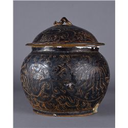 13th Century Jin Dynasty Cizhou Jar with Lid