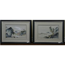 Framed Set 4 Chinese Republic Porcelain Plaques