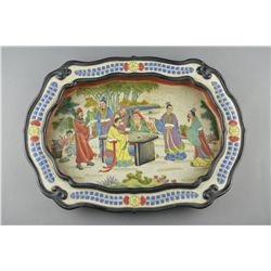 Chinese Ming-Style Porcelain Tray Ming Wanli