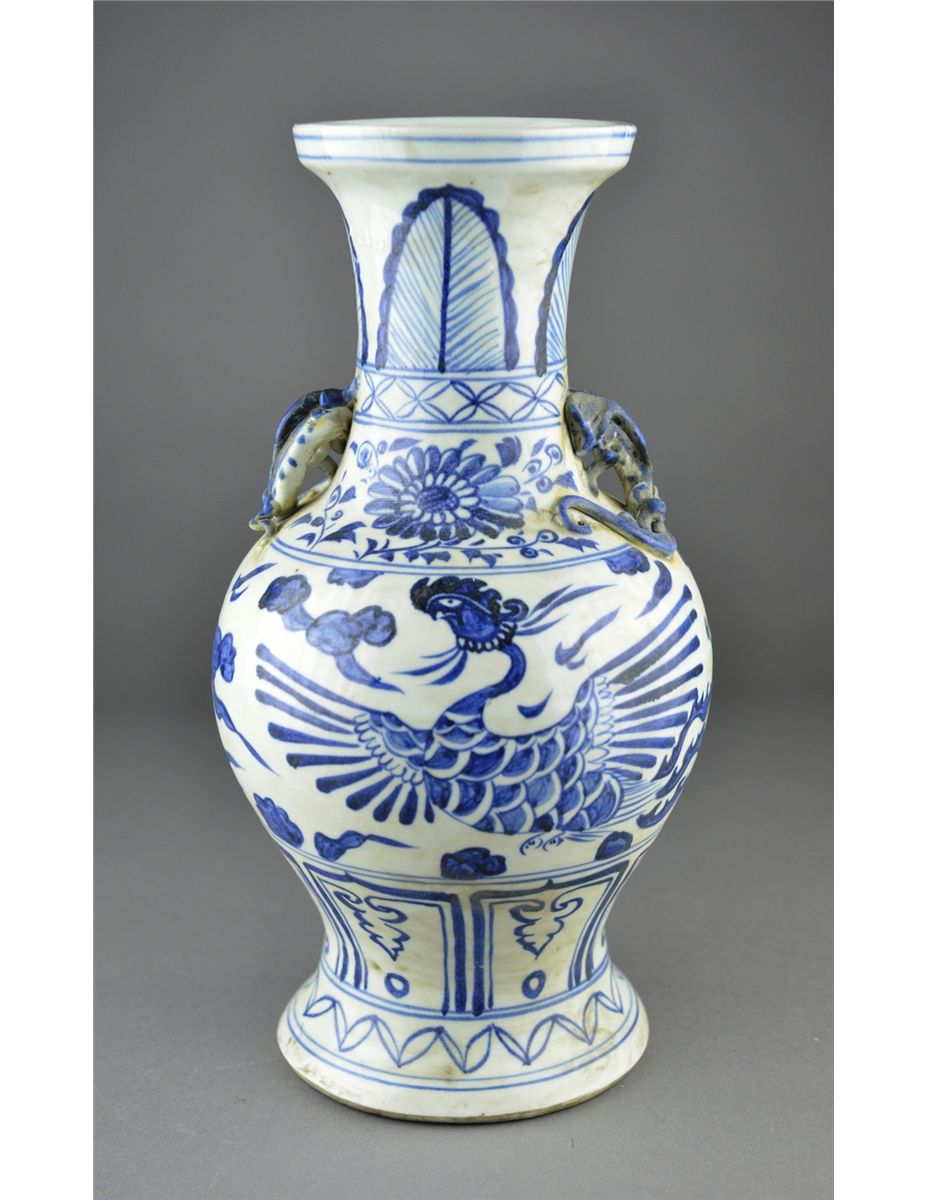 Chinese blue white porcelain vase dragon handles chinese blue white porcelain vase dragon handles loading zoom reviewsmspy