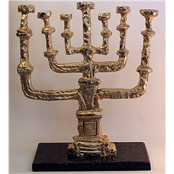 Rare Salvador Dali   Gold Limited Edition Bronze- Chandelier de la Paix Menorah
