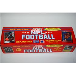 """1990 NFL Football Trading Cards; Complete Set of 665 Cards With Bonus Cards of """"Final Five"""" Draft Se"""