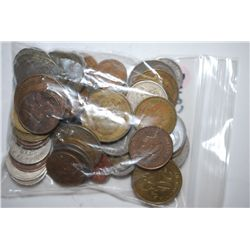World Coins & Tokens; Various Dates, Denominations & Conditions; Lot of 50; EST. $5-25