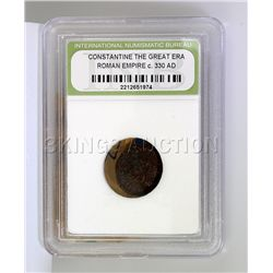 Roman Empire INB Coin 330 A.D. over 1600 yrs. old!! col