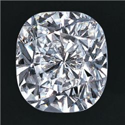 GIA 0.71 ctw Certified Cushion Brilliant Diamond D,VVS2