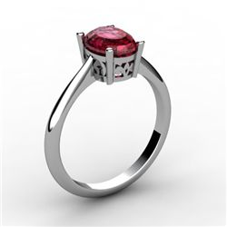 Garnet 1.00 ctw Ring 14kt White Gold