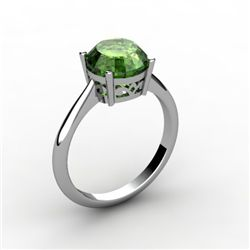 Tourmaline 2.00 ctw Ring 14kt White Gold