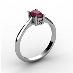 Ruby 0.60 ctw Ring 14kt White Gold