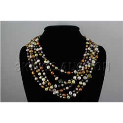 Multi-color 625.00ctw Freshwater Pearl Necklace