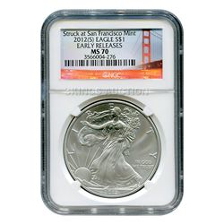 Certified Uncirculated Silver Eagle 2012(S) (Struck at
