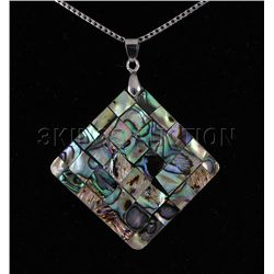 Natural 48.97ctw Mother Of Pearl Silver Pendant