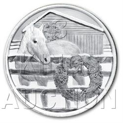 Christmas 2011 Silver Round X-6 Horse