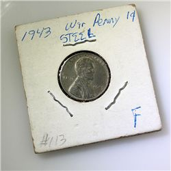 1943 War Steel Penny F