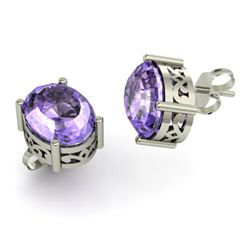 Tanzanite 5.00ctw Earring 14kt White Gold
