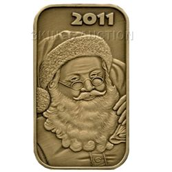 Christmas 2011 Bronze Bar X-1 Santa (with ornament hold