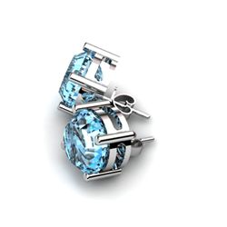 Topaz 11.50ctw Earring 14kt White Gold