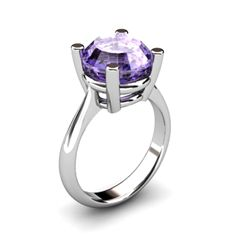 Tanzanite 5.75ctw Ring 14kt White Gold