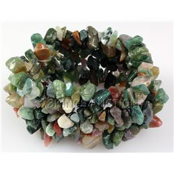 348.91CTW 8  TOURMALINE CHIPPED STONE BRACELET PHILIPPI