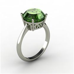 Tourmaline 3.00 ctw Ring 14kt White Gold