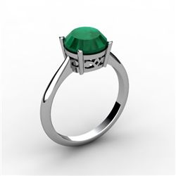 Emerald 2.50 ctw Ring 14kt White Gold