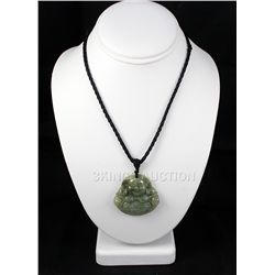 181.87ctw Buddhist Charm Jade Pendant Necklace