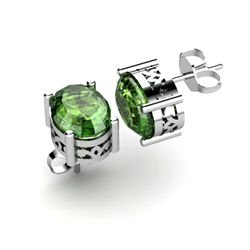 Tourmaline 2.36ctw Earring 14kt White Gold