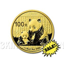Chinese Gold Panda Quarter Ounce 2012