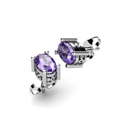 Tanzanite 0.96ctw Earring 14kt White Gold
