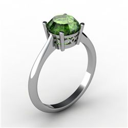Tourmaline 1.55 ctw Ring 14kt White Gold