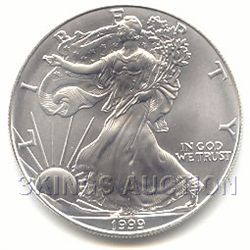 Uncirculated Silver Eagle 1999