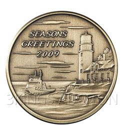 Christmas 2009 Bronze Round X-15 Season's Greetings (wi