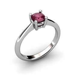 Ruby 0.65ctw Ring 14kt White Gold