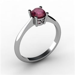 Ruby 0.65 ctw Ring14kt White Gold
