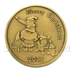 Christmas 2011 Bronze Round X-3 Merry Christmas (with o