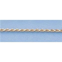 "Pure Gold 16"" 14k Gold-Yellow 1.0mm DC Rope Chain 2.6g"