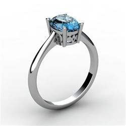 Topaz 1.10 ctw Ring14kt White Gold