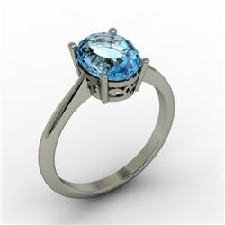 Topaz 2.50 ctw Ring 14kt White Gold