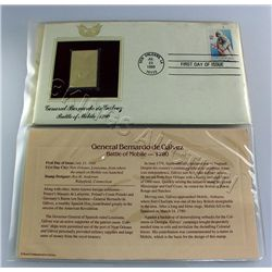 Gold Plated 22K Stamp 1st Day Issue (Coral Reefs & Batt
