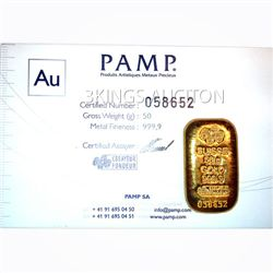 Manufacturer Of Our Choice 50g Gold Bar (1.6075 ounces)