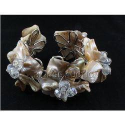 376.9CTW CHOCOLATE FROTH MOTHER OF PEARL BRACELET PHILI