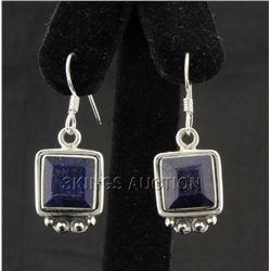 Sterling Silver 32.00ctw CorrundumSapphireEarring