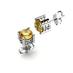 Citrine 0.80ctw Earring 14kt White Gold