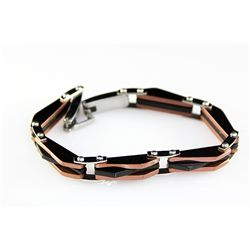 Mens 2Tone Stainless and Composite Bracelet