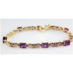 Sterling Gold 15.7 ctw Rose De France Amethyst and Purp