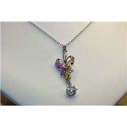 Lady's Fancy Sterling Multi Color Natural Spinel Necklace