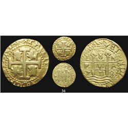 Lima, Peru, cob 8 escudos, 1713/2M, from the 1715 Fleet.